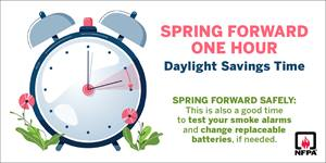 Daylight Saving Time social media card