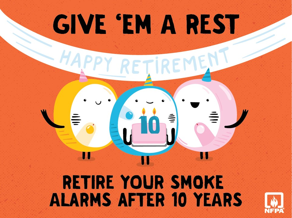 Retire your smoke alarms after 10 years