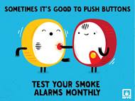 Test your smoke alarms monthly