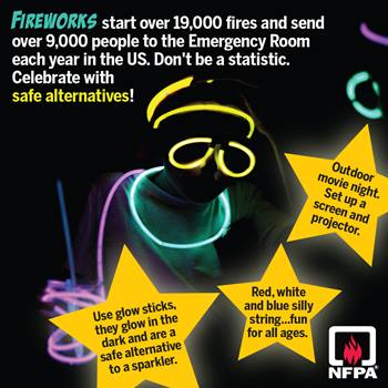 Alternatives to fireworks social media card
