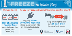 Put a freeze on winter fires social media card