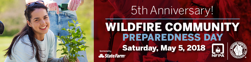 2018 Wildfire Community Preparedness Day banner