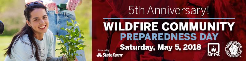 2018 Wildfire Community Preparedness Day banner