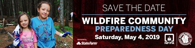 2019 Wildfire Community Preparedness Day banner