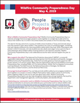 2019 Wildfire Community Preparedness Day fact sheet