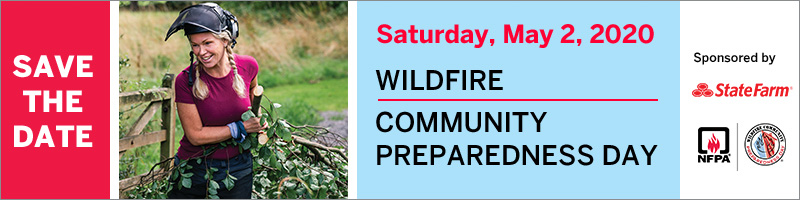 2020 Wildfire Community Preparedness Day banner - Save the date