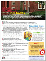 Campus fire safety tip sheet