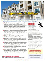 fire alarms in apartment buildings - safety tip sheet