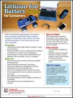 Featured item Safety tip sheet for consumers