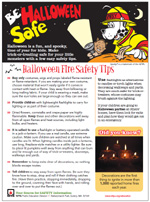 Featured item Halloween safety tip sheet