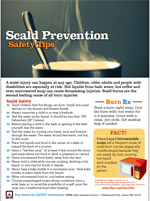 Featured item Scald prevention safety tip sheet