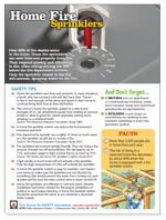 Featured item Home fire sprinkler safety tip sheet
