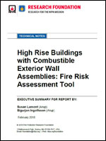 Featured item High Rise Buildings with Combustible Exterior Wall Assemblies: Fire Risk Assessment Tool