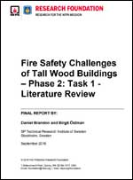 Featured item Fire Safety Challenges of Tall Wood Buildings Phase 2: Task 1 - Literature Review
