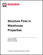 Featured item Structure Fires in Warehouse Properties