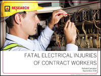 Featured item Fatal Electrical Injuries of Contract Workers