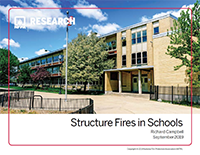 Featured item Structure Fires in Schools