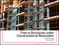 Featured item Fires in Structures under Construction or Renovation