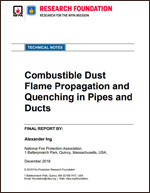 Featured item Combustible Dust Flame Propagation and Quenching in Pipes and Ducts