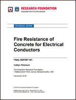 Featured item Fire resistance of concrete for electrical conductors