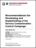 Featured item Recommendations for Developing and Implementing a Fire Service Contamination Control Campaign