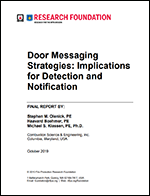 Featured item Door Messaging Strategies: Implications for Detection and Notification