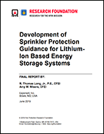 Featured item Sprinkler Protection Guidance for Lithium-Ion Based Energy Storage Systems