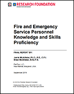 Featured item Fire and Emergency Service Personnel Knowledge and Skills Proficiency