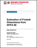 Featured item Estimation of Fireball Dimensions from NFPA 68