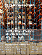 Featured item Impact of Elevated Walkways in Storage on Sprinkler Protection - Phase 1