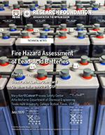 Featured item Fire Hazard Assessment of Lead-Acid Batteries