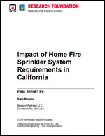 Featured item Impact of Home Fire Sprinkler System Requirements in California