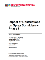 Featured item Impact of Obstructions on Spray Sprinklers – Phase I