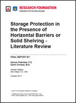 Featured item Storage Protection in the Presence of Horizontal Barriers or Solid Shelving – Literature Review