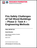Featured item Fire Safety Challenges of Tall Wood Buildings Phase 2: Task 5