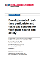 Featured item Development of real-time particulate and toxic gas sensors for firefighter health and safety