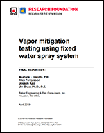 Featured item Vapor Mitigation Testing Using Fixed Water Spray System
