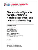 Featured item Flammable refrigerants firefighter training: Hazard assessment and demonstrative testing
