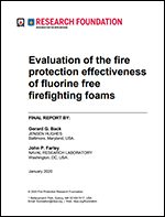 Featured item Evaluation of the fire protection effectiveness of fluorine free firefighting foams