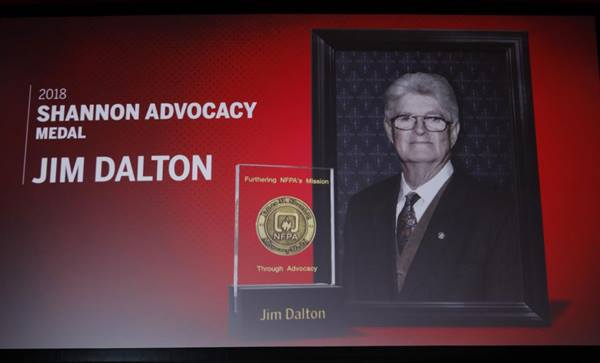 Jim Dalton, winner of 2018 James M/ Shannon Advocacy Medal