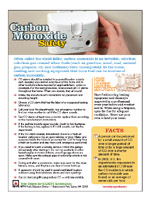 Featured item Carbon monoxide safety tip sheet