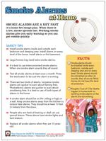Featured item Smoke alarms safety tip sheet