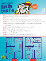 Nfpa basic fire escape planning for Fire escape plan worksheet