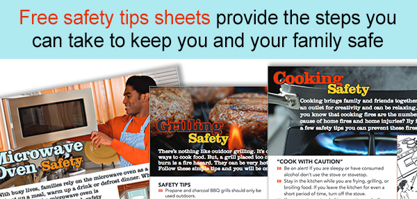 Cooking safety tip sheets