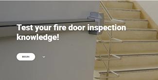 fire door inspection quiz screenshot