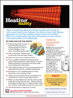 Featured item Heating safety tip sheet