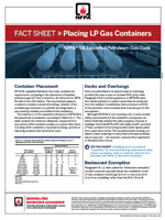 Featured item Placing LP Gas Containers fact sheet