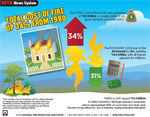 Total cost of fire infographic