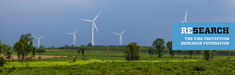 Wind turbines across a landscape