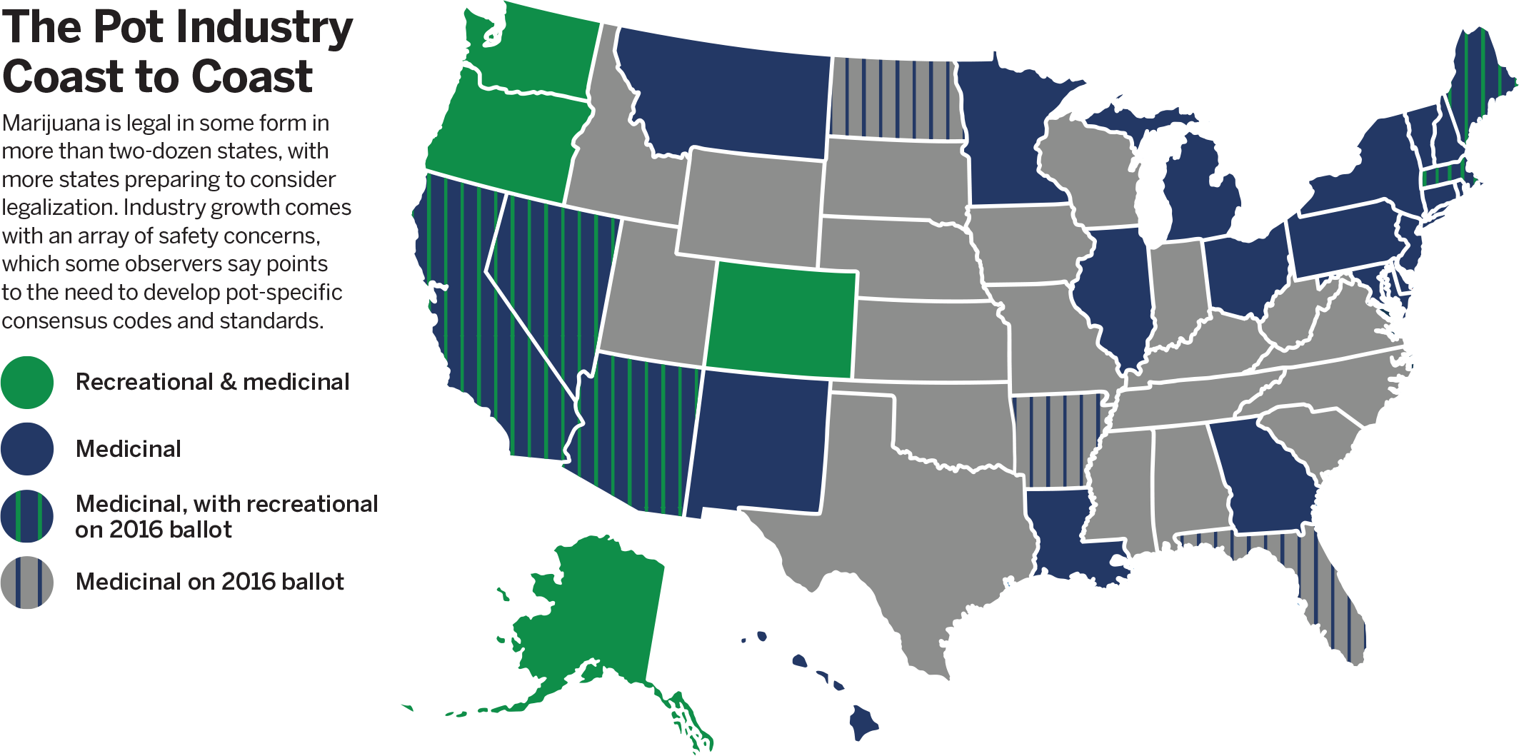 Map of united states current marjuana regulations